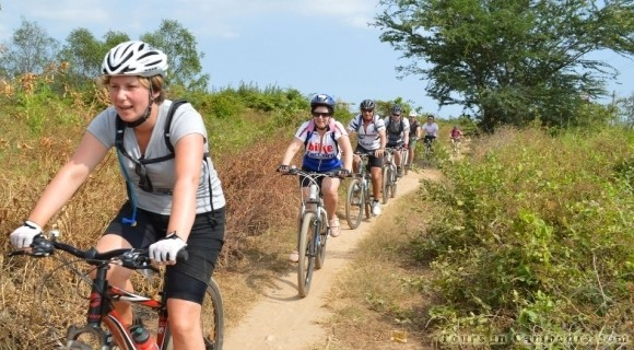 Cycling along Mekong River