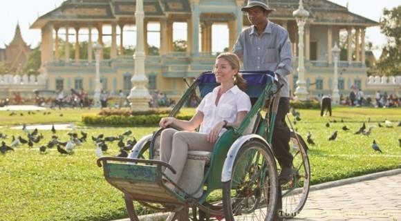 Cyclo around Phnom Penh