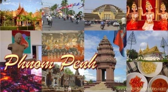 Phnom Penh City in Cambodia