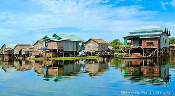 Floating Village in Tonle Sap Lake