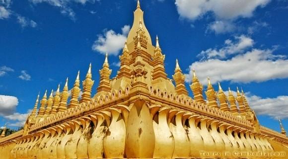 Pha That Luang Stupas in Vientiane