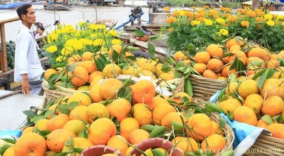 Floating Market in Mekong Delta